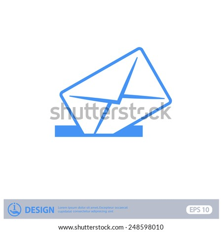 Pictograph of mail - stock vector