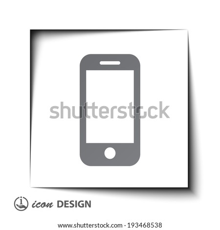 Pictograph of mobile phone - stock vector