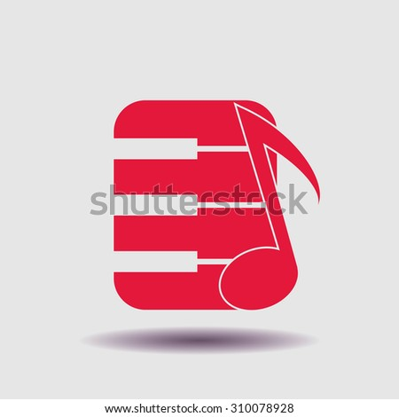 Pictograph of music keyboard. - stock vector