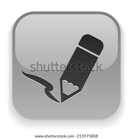 Pictograph of note - stock vector