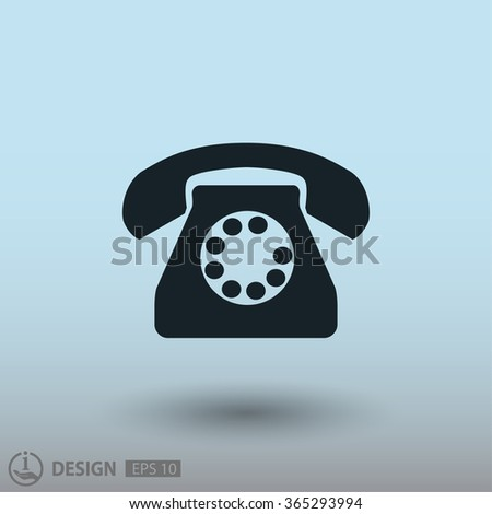 Pictograph of phone. Vector concept illustration for design. Eps 10 - stock vector