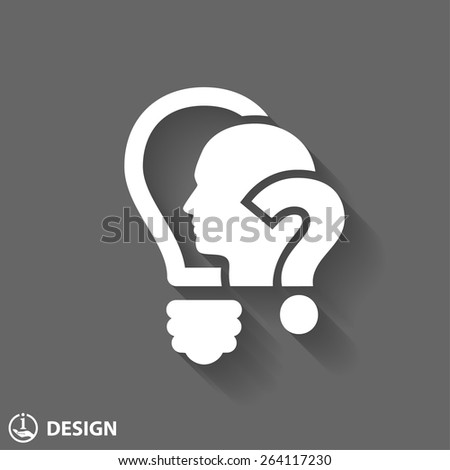 Pictograph of question mark and man - stock vector