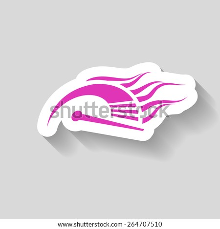 Pictograph of speedometer - stock vector