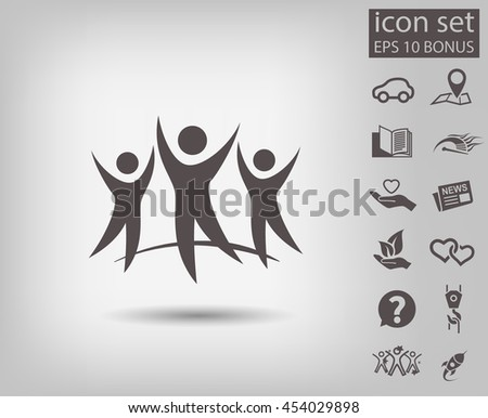 Pictograph of success team