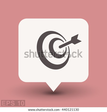 Pictograph of target. Vector concept illustration for design. Eps 10 - stock vector