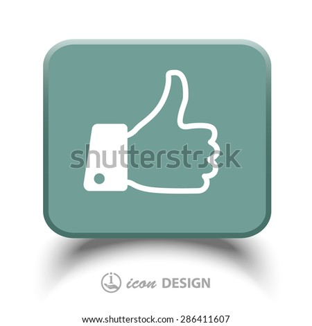 Pictograph of thumbs up