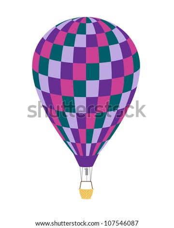 Picture balloon on white background. Vector.