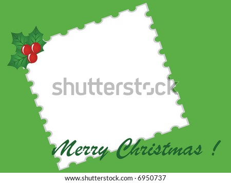 picture border with x-mas red berry,vector - stock vector
