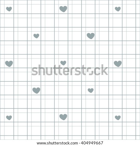 Picture for interior decoration colorful line with hearts on a white background