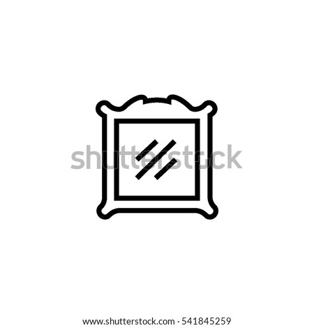 mirror frame outline. Picture Frame Outline Icon. Wall Mirror Icon Q