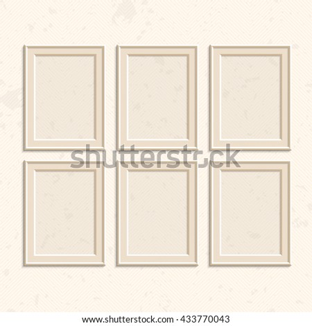 Picture Frame Vector Photo Art Gallery Stock Vector 433770043 ...