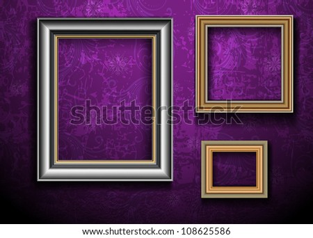 Picture Frame Wallpaper Background Photo Frame Vector de ...