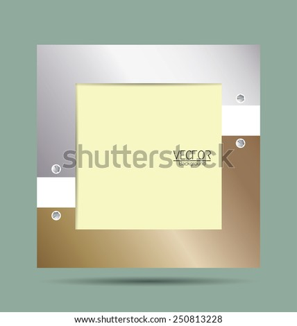 Picture frame with metallic border for template.