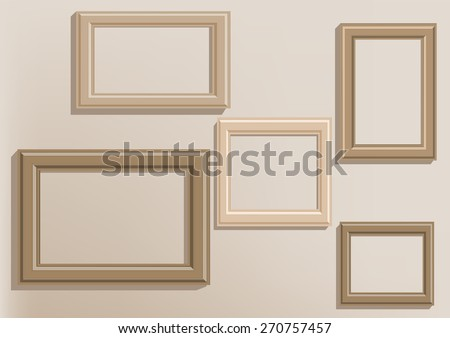 picture frames on wall.