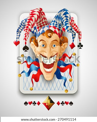 Picture Jolly Joker Vector illustration  - stock vector