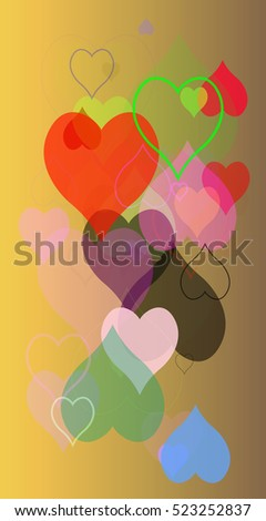 picture modern heart gradient party