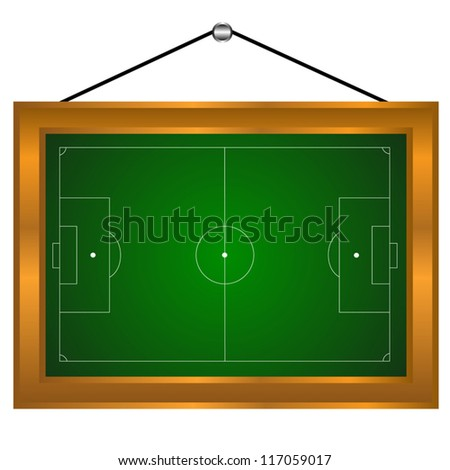 Picture of a football field on a white background