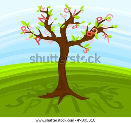 Picture of a spring tree