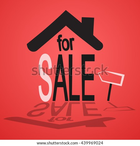 picture of building for sale - stock vector