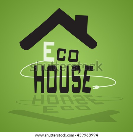 picture of eco building - stock vector