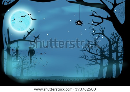 picture of horror - stock vector