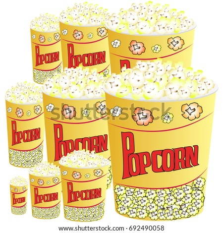 Picture of popcorn in paper cups