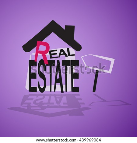 picture of real estate - stock vector