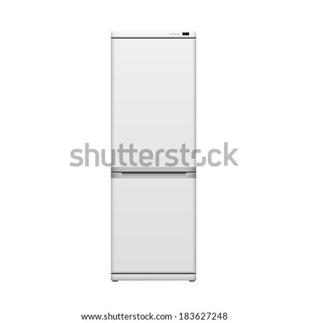 picture of refrigerator on white background, vector eps 10 illustration