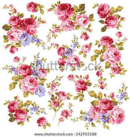 picture of rose - stock vector