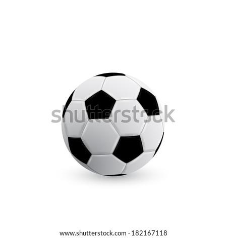 picture of soccer ball on white background, vector eps 10 illustration - stock vector