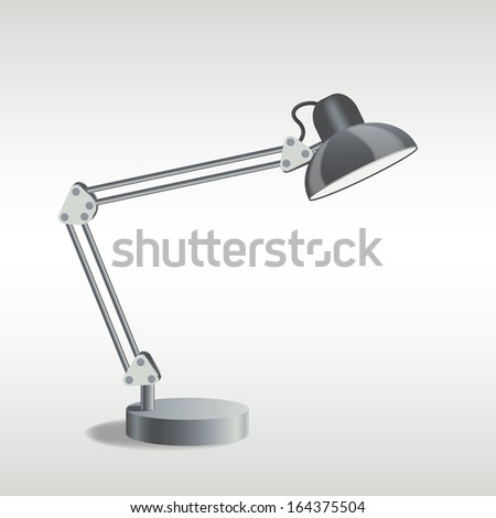 picture of table lamp, vector eps10 illustration