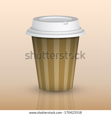picture of take out coffee cup, vector eps 10 illustration