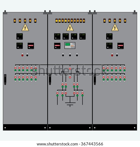 Picture Electrical Panel Electric Meter Circuit Stock Vector (2018 ...