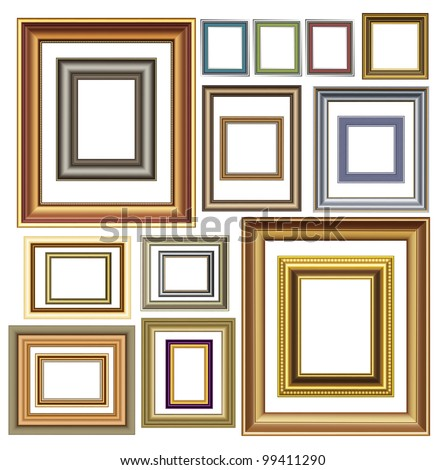 Picture photo frames vector luxury vintage design - stock vector