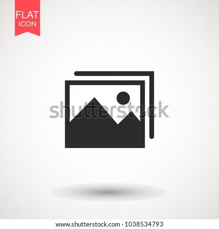Picture Vector Icon Image Symbol Picture Stock Vector 1038534793