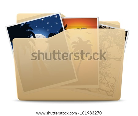 Pictures Folder Icon. Vector - stock vector