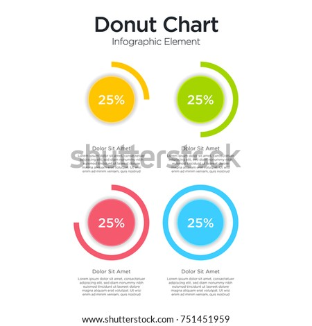 Pie chart donut chart layers graphs stock vector 751451959 pie chart and donut chart layers graphs and diagram infographic presentation design data ccuart Gallery