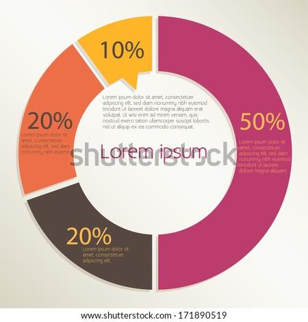 Pie Chart Design Infographics Vector Eps 10 Stock Vector Royalty