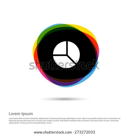 Pie chart diagram icon white pictogram stock vector hd royalty free pie chart diagram icon white pictogram icon creative circle multicolor background vector illustration ccuart Image collections