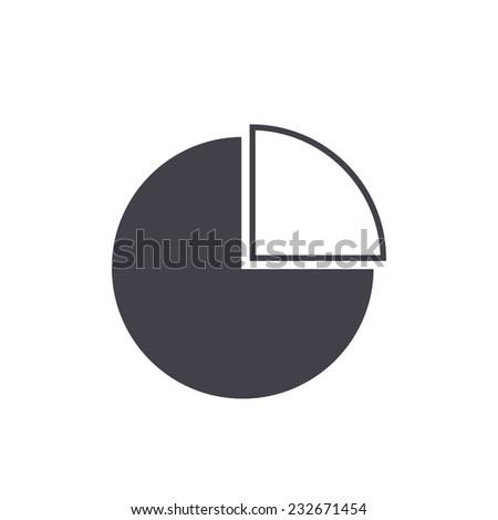 pie chart icon - stock vector