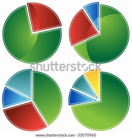 Pie Chart Set - stock vector