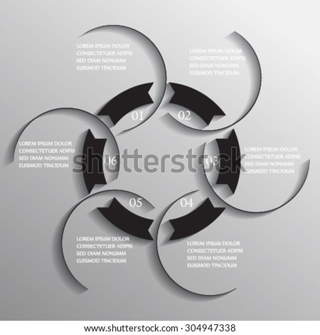 pie chart, template for presentation - stock vector