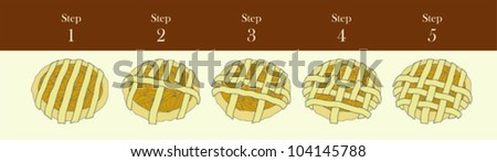 Pie Lattice - stock vector