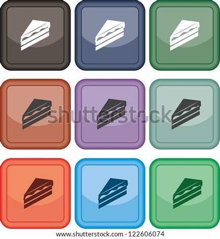 Piece of cake, icon, vector
