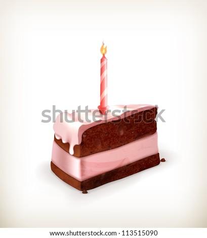 Piece of cake, vector - stock vector