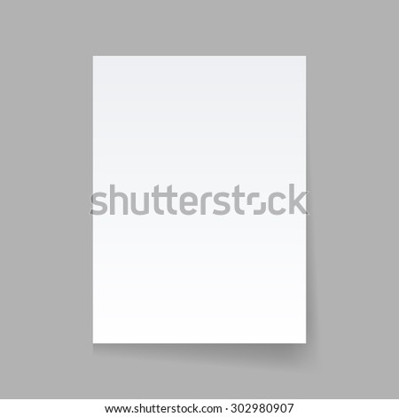 Piece of paper on a gray background
