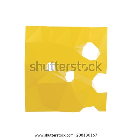 piece of yellow porous cheese food with holes