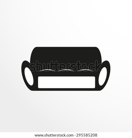 Pieces of furniture. Sofa. Vector illustration. - stock vector