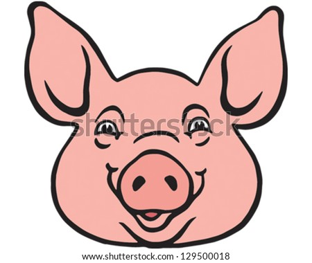 pig head stock images  royalty free images   vectors Funny Pig Face Clip Art Pig Face Clip Art Black and White