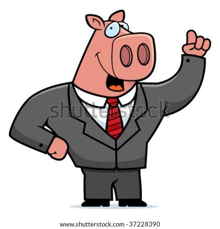 Pig Businessman - stock vector